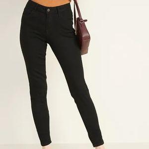 Mid-Rise Black Rockstar Super Skinny Jeans NWTag